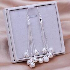 wholesale cute beads charm silver Fashion Pretty women Beautiful Earring jewelry