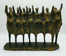 KRISHNA REDDY - c.1969 VINTAGE BRUTALIST ABSTRACT MODERNIST RESIN SCULPTURE