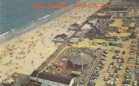 NJ Point Pleasant Beach 1959-64 AERIAL  Amusement Park Area Rides postcard B1