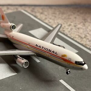 Aero500 500 scale diecast model National DC10-30 Commercial Airliner N82NA