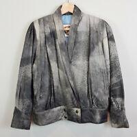 RUDY'S DESIGN Bali | Womens Acid wash Leather Jacket [ Size AU 12 or US 8 ]