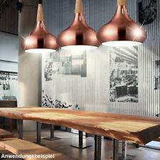 Vintage Pendel Lampe Gästezimmer Holz Decken Hänge Leuchte Landhaus Stil Kupfer