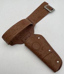 Vintage 1969 Mattel Single Belt Brown Holster Western Cowboy 5594-0210 USA 1710