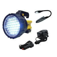 37 LED CORDLESS RECHARGEABLE TORCH 1 MILLION CANDLE POWER SPOTLIGHT + BOOKLIGHT