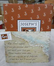 "Joseph'S Studio Footprints Plaque 5"" 41356 New In Box"