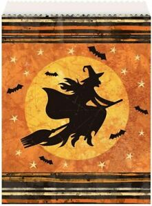 Full Moon Halloween 8 Ct Paper Goodie Favor Bags Witch