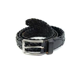 J. Lindeberg Braided Genuine Leather Men`s belt