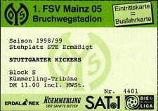 Ticket II. BL 98/99 1. FSV Mainz 05 - Stuttgarter Kickers, 02.12.1998