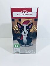 Boston Terrier Dog 3.5 Feet Tall Christmas Inflatable by Holiday Time Winter