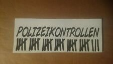 Polizeikontrolle  - Fun - Tuning - Auto Sticker Aufkleber