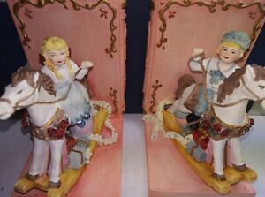 Rocking Horses Bookends Victorian Theme