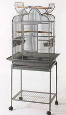 Open Dome Play Top Wrought Iron Bird Small Parrot Cage W/Removable Stand -468