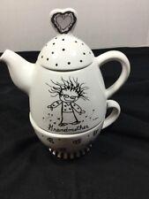 Enesco Children Of The Inner Light Grandmother Teapot W Mug Set Enesco