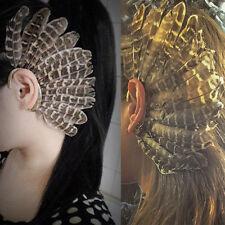 Fashion Feather Ear Cuff Wrap Clip Earring Retro Punk Rock Earrings Ear Clip