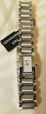 Women's Diamond Watch Retail $268.00 New With Tags! Great Deal! Silver Wristband