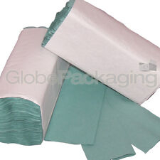 640 x GREEN 1 PLY C-FOLD PAPER HAND TOWELS MULTI FOLD