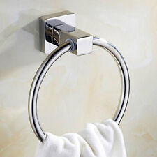 Towel Ring Holder Hanger New Household Stainless Steel Round Style Wall-Mounted