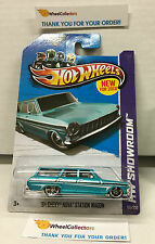 '64 Chevy Nova Station Wagon #195 * Teal * 2013 Hot Wheels * D16