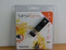 SanDisk SANSA EXPRESS 1GB USB MP3 Player, FM Tuner, Recorder, Micro SD Slot NEW!