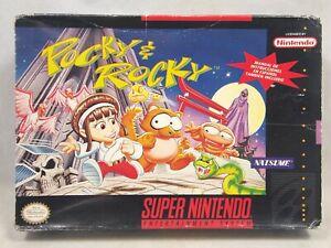 Pocky & Rocky (Super Nintendo | SNES) Authentic BOX ONLY