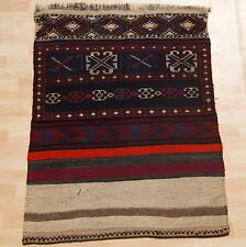 Kilim Rug Kurdish Kilim Hand Woven Multi Colored Rectangle Wool Area Rugs 3X4ft