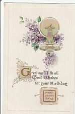 B B London~Lavender Lilacs~Mother of Pearl Add Ons~Sundial~Calligraphy~Ser B506