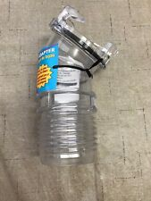 RV - EZ Install Clear View 45 Angle Sewer Hose Adapter - No Clamp Needed