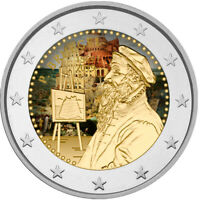 2 Euro Gedenkmünze Belgien 2019 coloriert / mit Farbe Farbmünze Pieter Bruegel 2