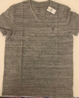 American Eagle Mens Gray Core Flex Vneck Shirt Size Medium M NWT