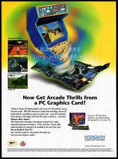 INTENSE 3D VOODOO__Original 1997 Print AD game promo_3Dfx INTERACTIVE_Intergraph