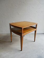 Vtg. Weiman Heirloom Neo Classical Hollywood Regency Banded Inlaid Accent Table
