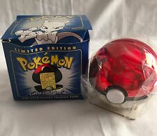 Pokemon Mewtwo Trading Card 23K Gold Plated Pokeball Blue Box Ltd. Ed Sealed