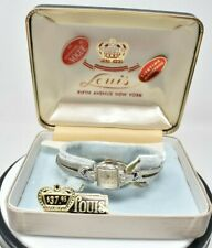 VINTAGE 1950's LADIES LOUIS WATCH CAL FHF 60 17 JEWELS 10K GOLD-FILLED SWISS