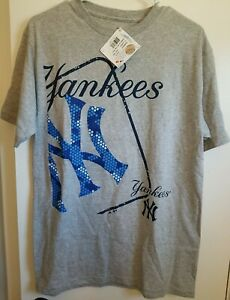 Youth XL New York Yankees Majestic Gray T-Shirt