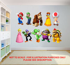 SUPER MARIO BROS STICKERS NINTENDO  KIDS BEDROOM VINYL DECAL WALL ART STICKER