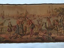 Vintage French Tapestry, Large 19x59, Restoration Project (RF337)