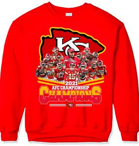 Kansas City Chiefs AFC Championship 2021 Champions SweatShirt Red S-5XL