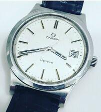 Vintage Omega Geneve Cal 1030 Ref 136 0102 Mens 37mm Stainless Steel Mens Watch