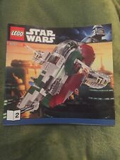 Lego STAR WARS BOBA FETT SLAVE SHIP 1 SET 8097 INSTRUCTION BOOK 2 ONLY