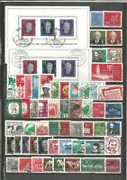 DDR  1958 gestempelt kompletter Jahrgang + Blockmarken Super- Stempel