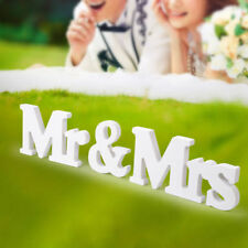 MR & MRS Wedding Letters White Wooden MR AND MRS Letters Sign Gift Decoration