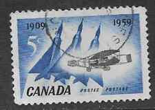 USED CANADA POSTAGE 5c STAMP 1959 COMMEMORATIVE 50th ANNIVERSARY OF FIRST FLIGHT