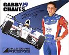 2016 GABBY CHAVES signed INDIANAPOLIS 500 PHOTO CARD POSTCARD INDY CAR HONDA wC