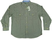 NWT Woolrich Concourse Button Down Long Sleeve Shirt Mens Size L Large Plaid