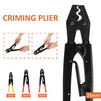 0.5-25mm² Ratchet Terminal Crimping Pliers Cable Wire Tool Cutter Crimper @