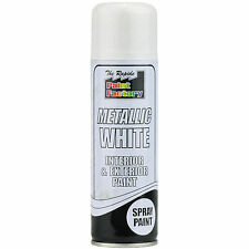 3 X 200ml Metallic White Spray Paint Interior U0026 Exterior Spray Aerosol Can Part 95