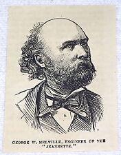 Petit 1882 Revue Gravure ~ George Avec Melville, Engineer De Uss Jeannette