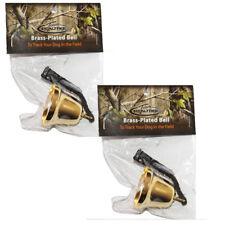 2 Real Tree Grouse Hunting Brass Plated Bell Bells Medium Tone Bird Dog Training
