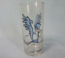 1973 PEPSI COLLECTOR SERIES LOONEY TUNES ROAD RUNNER GLASS BLACK LETTERS