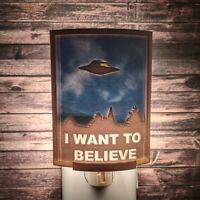 X-Files (I Want to Believe Poster) 3D Lithophane Color Night Light